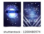 electro sound party music...   Shutterstock .eps vector #1200480574