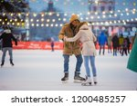 young couple in love caucasian... | Shutterstock . vector #1200485257
