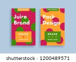brand new juice package design... | Shutterstock .eps vector #1200489571