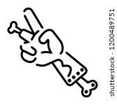 flat zombie broken hand icon | Shutterstock .eps vector #1200489751