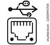 ethernet  network port icon... | Shutterstock .eps vector #1200494704