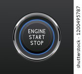 engine start stop button. car... | Shutterstock .eps vector #1200495787