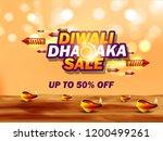happy diwali poster  header ...   Shutterstock .eps vector #1200499261