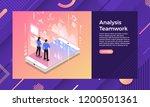 mockup landing page website... | Shutterstock .eps vector #1200501361