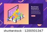 mockup landing page website... | Shutterstock .eps vector #1200501367