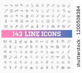line medicine consepts  icons... | Shutterstock .eps vector #1200508384