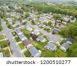 aerial of parkville homes in... | Shutterstock . vector #1200510277