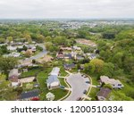 aerial of parkville homes in... | Shutterstock . vector #1200510334