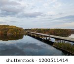 aerial of loch raven reservoir... | Shutterstock . vector #1200511414
