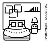 bedroom icon vector | Shutterstock .eps vector #1200513157