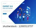 isometric online voice... | Shutterstock .eps vector #1200513757