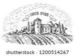 vine plantation hills  trees ... | Shutterstock .eps vector #1200514267