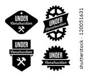 label under construction with... | Shutterstock .eps vector #120051631