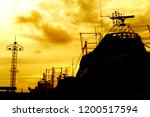 silhouette image of industrial | Shutterstock . vector #1200517594