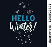 hello winter. merry christmas... | Shutterstock .eps vector #1200523921