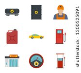 petrol industry icon set. flat... | Shutterstock .eps vector #1200525091