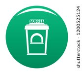 coffee selling icon. simple... | Shutterstock .eps vector #1200525124