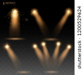 set sunlight special lens flash ... | Shutterstock .eps vector #1200529624