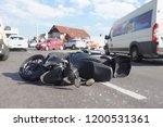 real event  motorcycle accident ... | Shutterstock . vector #1200531361