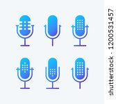 podcast radio icon illustration ... | Shutterstock .eps vector #1200531457