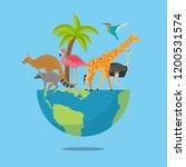 vector illustration world... | Shutterstock .eps vector #1200531574