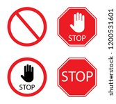 stop signs collection in red... | Shutterstock .eps vector #1200531601