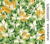 seamless botanical tropical...   Shutterstock .eps vector #1200533671