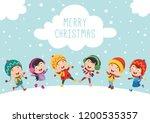 vector illustration of christmas | Shutterstock .eps vector #1200535357