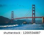 golden gate bridge  baker beach ... | Shutterstock . vector #1200536887