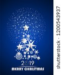 christmas and new year 2019... | Shutterstock .eps vector #1200543937
