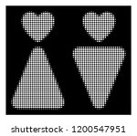 halftone dotted lovers icon.... | Shutterstock .eps vector #1200547951