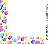 a frame from multi colored...   Shutterstock .eps vector #1200549547