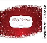 christmas card | Shutterstock .eps vector #120055135
