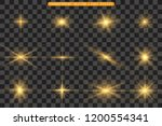 set of gold bright beautiful... | Shutterstock .eps vector #1200554341