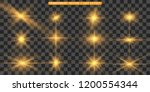 set of gold bright beautiful... | Shutterstock .eps vector #1200554344