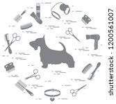 scotch terrier silhouette ... | Shutterstock .eps vector #1200561007