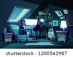 vector illustration of girl s... | Shutterstock .eps vector #1200562987