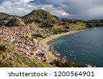 view of copacabana town from... | Shutterstock . vector #1200564901