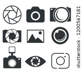 photography icon. photo camera... | Shutterstock .eps vector #1200567181