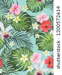 tropical vector seamless... | Shutterstock .eps vector #1200572614