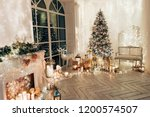 warm and cozy evening in... | Shutterstock . vector #1200574507