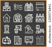 collection of 16 urban outline...   Shutterstock .eps vector #1200576841