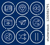 set of 9 play outline icons... | Shutterstock .eps vector #1200581791