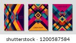 collection of cover page... | Shutterstock .eps vector #1200587584