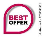 red vector banner best offer | Shutterstock .eps vector #1200588511