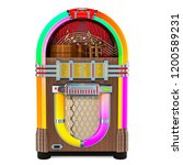 Vintage Jukebox Front View  3d...
