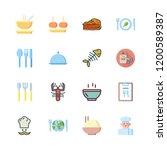 plate icon set. vector set... | Shutterstock .eps vector #1200589387