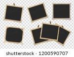 set of square old vintage... | Shutterstock .eps vector #1200590707