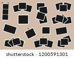 set of square vector photo... | Shutterstock .eps vector #1200591301