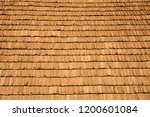 several wood cedar shingles for ... | Shutterstock . vector #1200601084